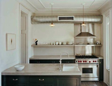 Kitchen: Industrial Kitchen Vents as Decor : Remodelista