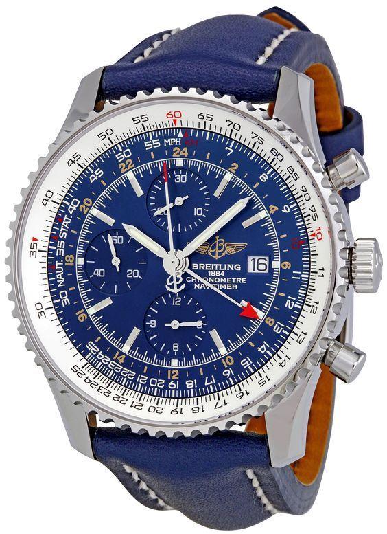 New Breitling Navitimer World GMT 46mm Mens Luxury watch