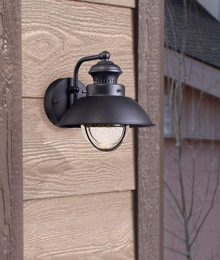 """Fordham 8"""" H x 9""""W, extends 10"""", back 4 1/4"""", $50  Black LED Outdoor Wall Light - #5C013 