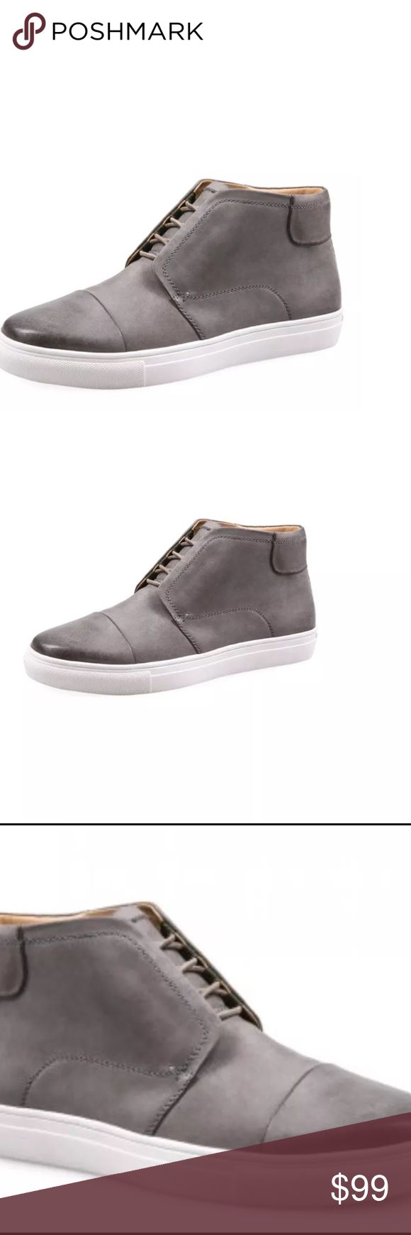 J shoe hunt Chukka sneaker Description: Cap-toe chukka sneaker  Leather Lace-up vamp Rubber outsole Material: Leather  Brand: J Shoes  Origin: Imported J shoes Shoes Sneakers