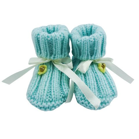 Crystal & Cloth - Knitted Baby Booties