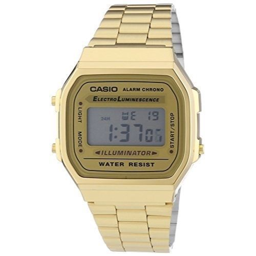 Details about Casio Digital Mens Gold Retro Watch A168WG-9 with light and stopwatch