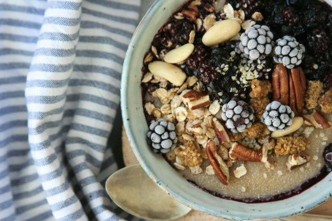 Amaranth porridge with caramelised oats / Amarantová kaše s karamelizovanými vločkami