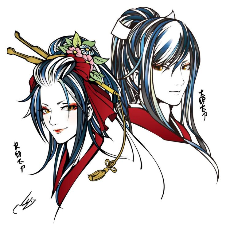 Touken Ranbu @yamamotonaoki 次郎太刀についで太郎太刀を描きました。ちゃんと兄弟っぽくできました。さて次は何が良いかなー。