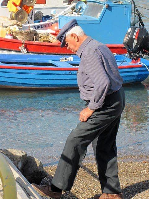 Greek fisherman in Patmos