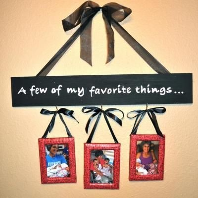 Picture frame wall hanging personalized gift make a for Cute picture hanging ideas