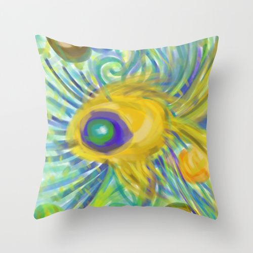 Aranyhal throw pillow   #goldfish #design #artflow #sketch