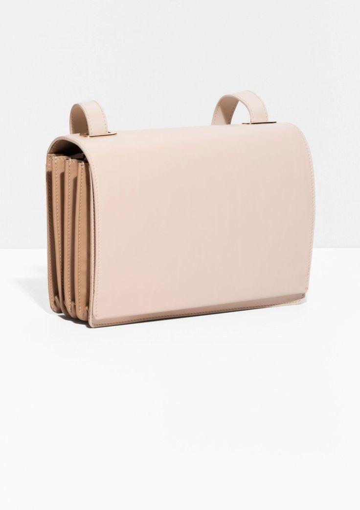 & Other Stories   Pleated Shoulder Bag   Beige