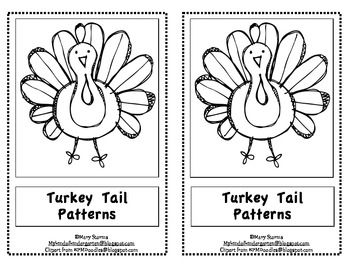 "Kindergarten Thanksgiving Emergent Reader-""Turkey Tail Patterns"""