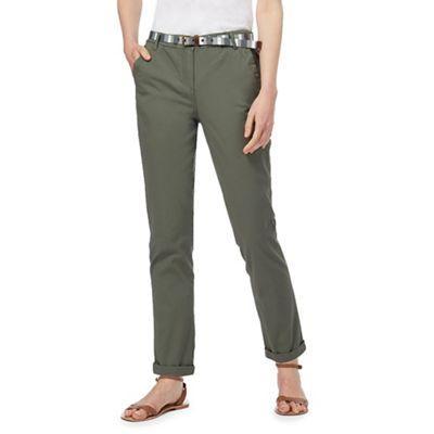 Maine New England Khaki chino trousers | Debenhams