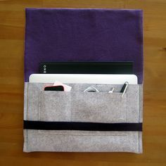 Felt & Fleece Laptop Sleeve: sewing tutorial | She's Got the Notion