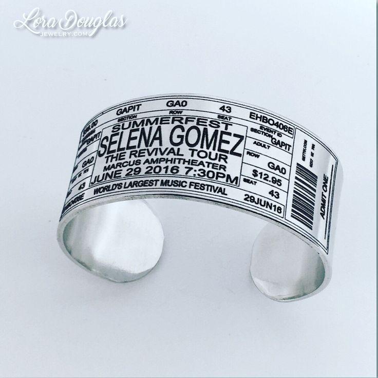 Selena Gomez Concert Ticket Cuff #selenagomez #therevivaltour #selenagomezfans  #summerfest #Jewelry #handmadejewelry #concert #maker #accessories #style #handmade #music #etsy #etsyusa #etsyseller #etsyjewelry #concertticket #forsale #fashion
