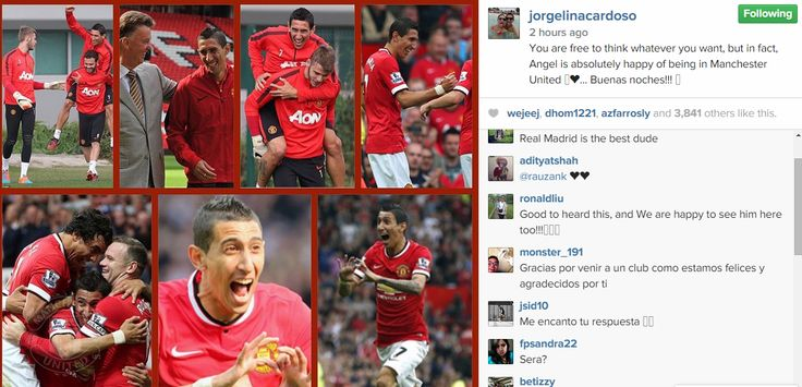 Di Maria's wife : Angel is absolutely happy at Man Utd  http://www.lifeismufc.in/2014/11/di-maria-wife-angel-is-happy.html