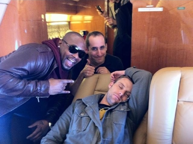 Omar Epps, Peter Jacobson and Jesse Spencer on the set of House M.D.  Adorably cute when asleep!