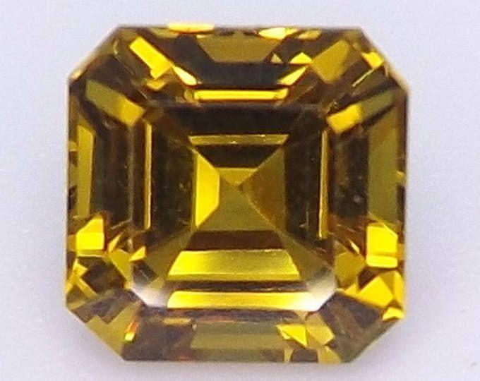 Excellent Cut Nanocrystal Emerald Asscher Cut 9 x 9 mm Loose
