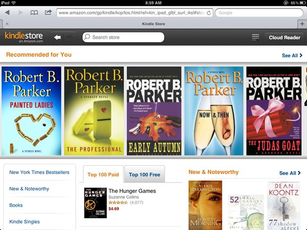 Amazon creates iPad Kindle Store for iOS users - iPhone app article - Lisa Caplan | Appolicious ™ iPhone and iPad App Directory