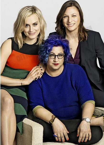 Taylor Schilling, Jenji Kohan, and Cindy Holland, exec at Netflix.