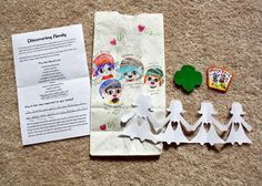 Girl Scout Brownies - Brownie Quest Journey - Ideas for earning the Discover Key - Brownie Smile Song lyrics sheet, Girl Scout Law flashcard key set for scavenger hunt, personalized I Spy jars, Find Out About... Cookie Catcher, Discovering Family bags and more!