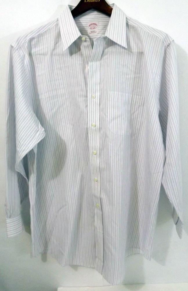 7142567fac9b7 NWOT Men s Brooks Brothers 17-33 Regular Fit Purple Blue Striped LS Dress  Shirt