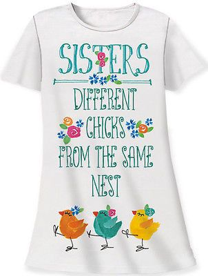 Relevant Products Gift Bag Sleep Shirt - Sisters:Different Chicks