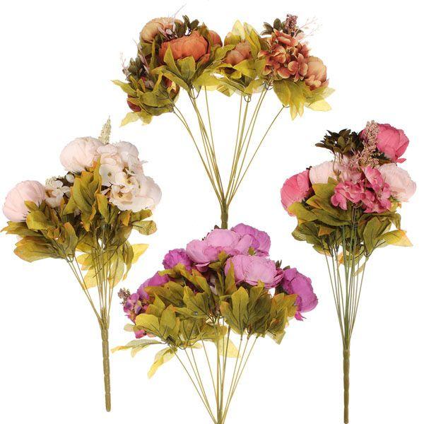 Artificial Peony Bouquet Artificial Silk Flowers Home Wedding Decor - US$7.99