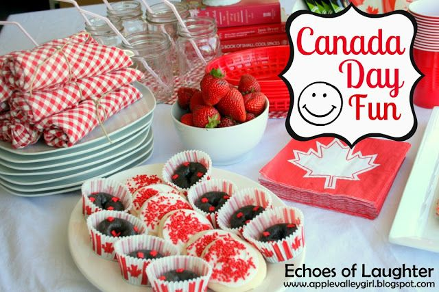 [Canada Day] Red + White Party Decor