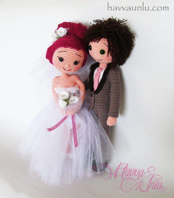 PATTERN - Bride and Groom (crochet, amigurumi) Patterns ...