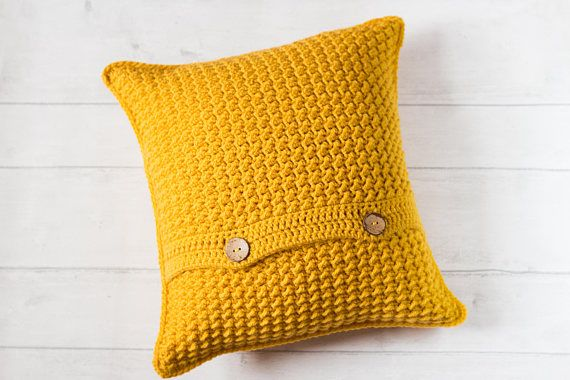 Mustard Yellow Cushion Cover Accent Throw Pillow Cover