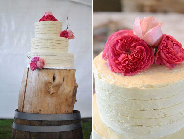 Pink And White Rustic Wedding Cake Obsession Canadian Inspiration Blog Toronto Pinterest Gl Bottles