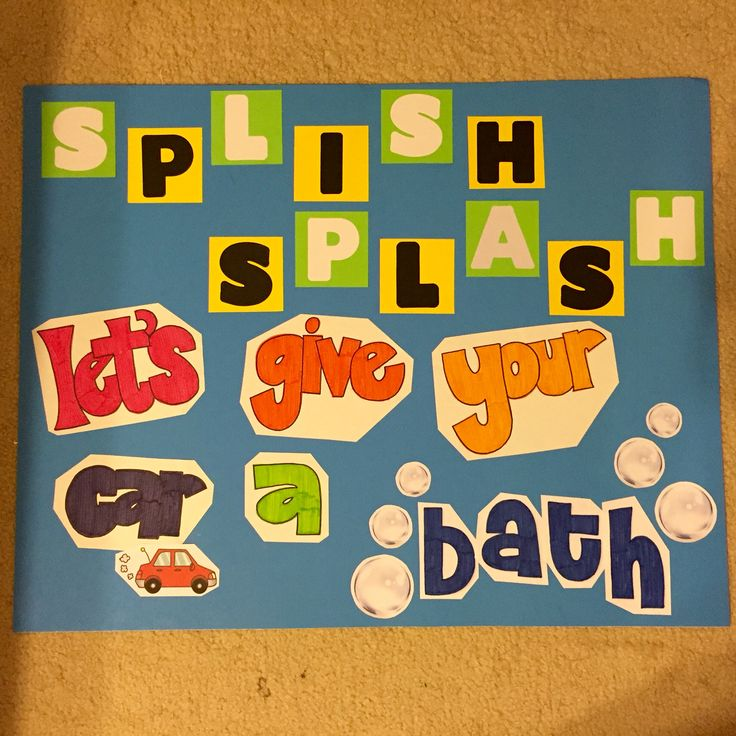 Car wash sign I made for my coworker who's church was having a fundraiser for their mission trip to Peru (: