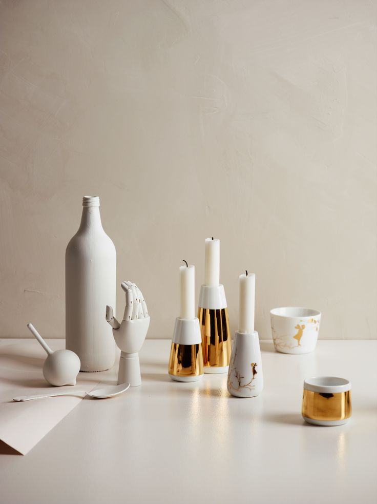 Alv Gold Candle Holders  |  Photo: Siren Lauvdal  |  Styling: KråkvikD'Orazio