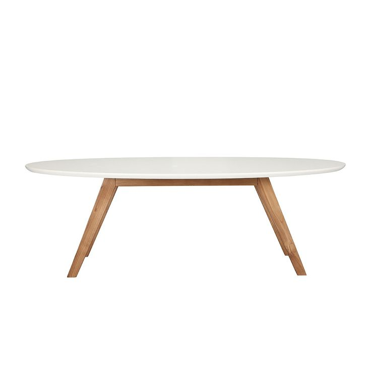 Ollie Oval Coffee Table (White) - Coffee Tables - Living Room - FURNITURE