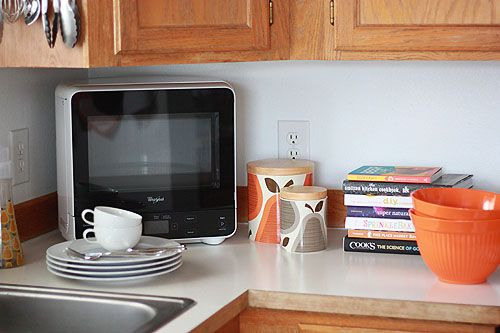 A Cute Microwave Made To Fit Into The Corner Of Countertop At Not Martha Ping Pinterest