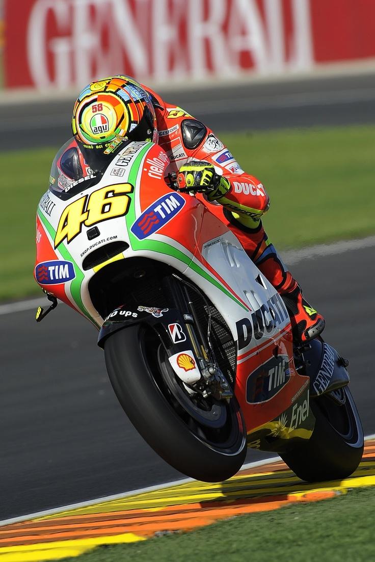Valentino Rossi 2012 - via Racing Cafe