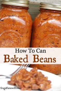 Canning or freezing baked beans is a great winter project when there isn't any garden produce to put up. Not any more difficult than making baked beans for dinner, and you get the benefit of having instant meals on the pantry shelves!