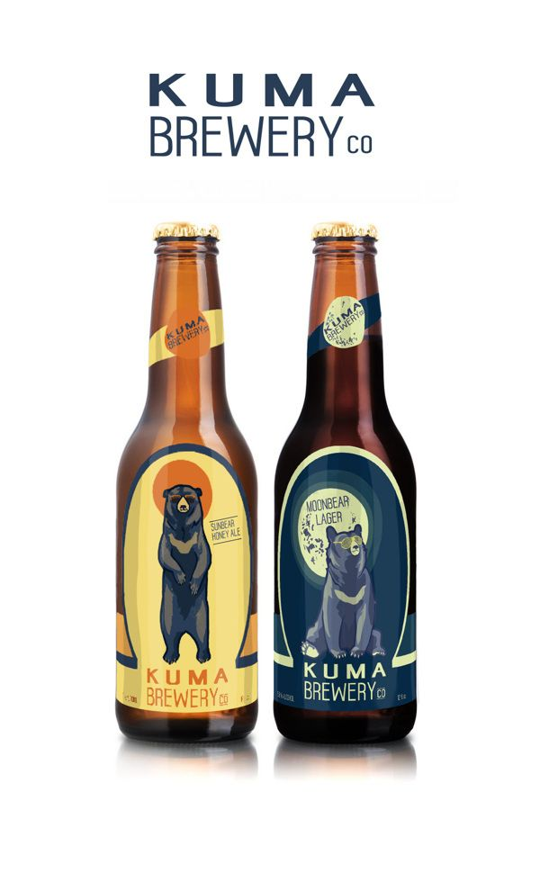 "Kuma Brewery Sunbear Honey Ale and Moonbear Lager www.LiquorList.com ""The Marketplace for Adults with Taste!"" @LiquorListcom   #LiquorList"