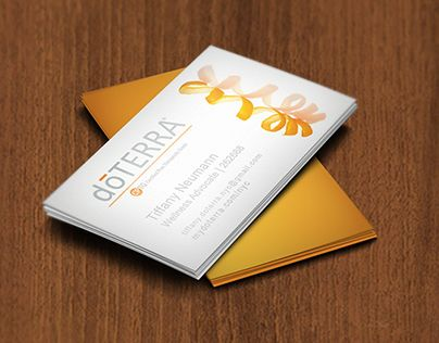 doterra business card template