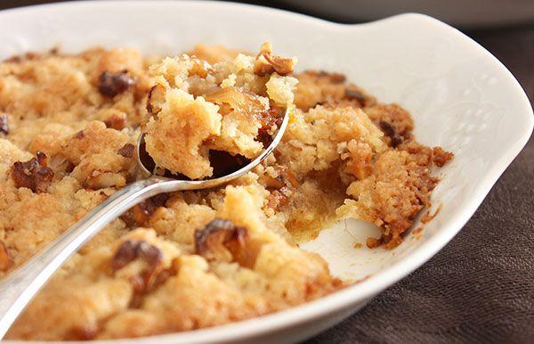Apple walnut Crumble image