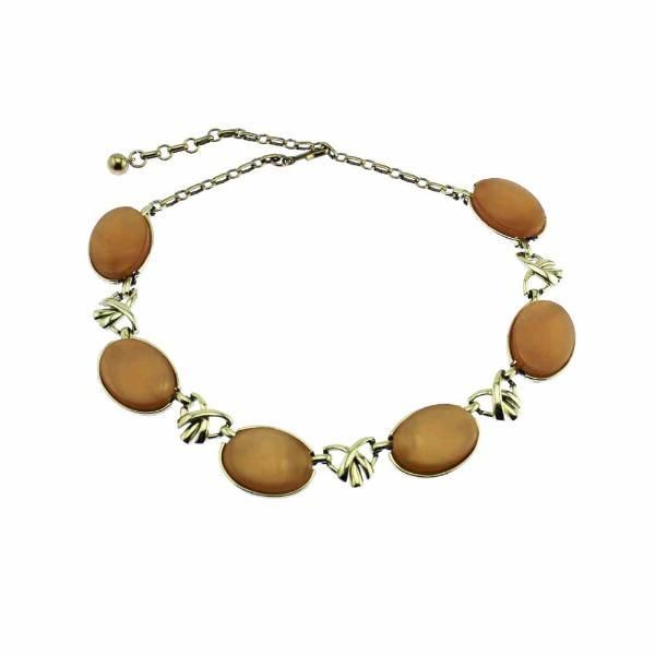 Coro Pink Thermoset Moonglow Necklace