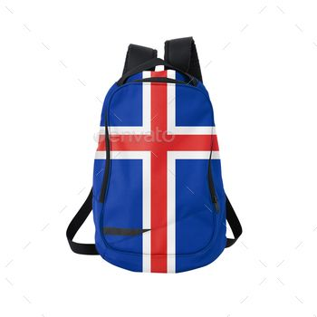Backpack with flag of Iceland