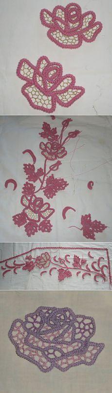 Личный сайт Ольги Масагутовой » Архив блога » Шнурковые розы – МК