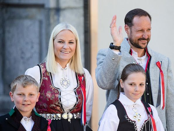 King Harald and Queen Sonja of Norway, Crown Prince Haakon and Crown Princess Mette-Marit of Norway, Prince Sverre Magnus, Princess Ingrid Alexandra of Norway celebrate Norway National Day on May 17, 2016 in Asker, Norway. (Norway's Constitution, declaring the country to be an independent nation, was signed at Eidsvoll on 17 May, 1814. Despite independence not being fully achieved until 1905, this date remains Norway's National Day, and is a national holiday.)