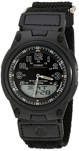 Casio Mens AW80V1BV World Time AnaDigi Data Bank 10YearBattery Watch * Click on the image for additional details. (This is an affiliate link and I receive a commission for the sales)