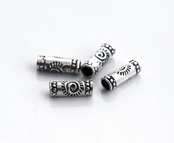 2969_ Karen hill beads 3x8 mm Sun spacers Karen hill tribe