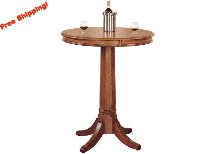 Add traditional charm to your bar, game room, or kitchen with Hillsdale Furniture's Park View Bistro Set. Finished in a medium brown oak with deep brown leather seat cushions and backs, the swivel sto                                                                                                                                                                                 More