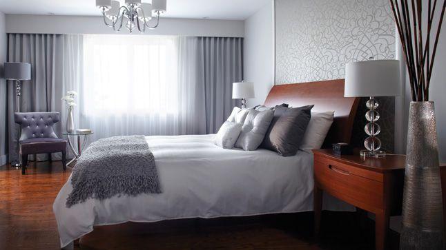 Une chambre qui s'inspire des suites d'hôtel.   Photo: Yves Lefebvre #deco #chambre