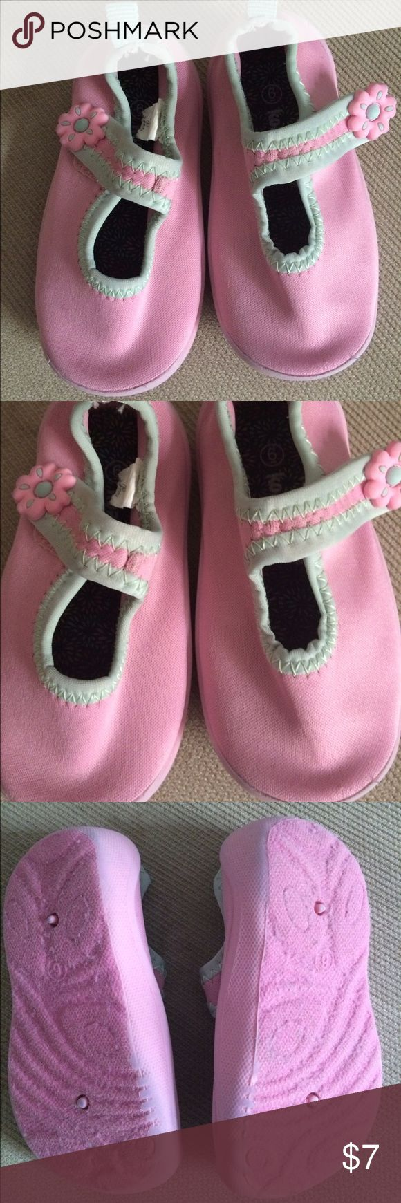 Pink and green baby girl water shoes Pink and green baby girl water shoes.  MaryJanes style.  Gently worn. Koala Kids Shoes Water Shoes