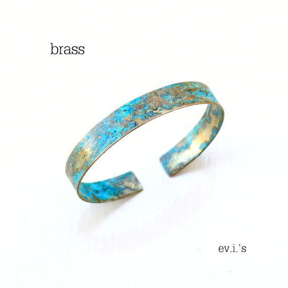 One Copper or Brass Green Patina Bracelet by EVIsMetalworkJewelry, €20.00