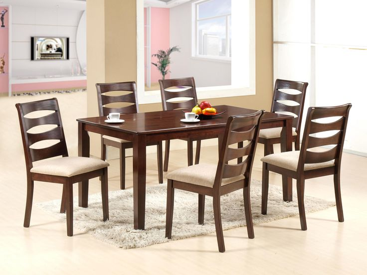 NEW SANDY DINING SET - This dining table's simple, sleek design enables it to perfectly integrate with your modern decor. The New Sandy Dining set adds a distinct complement to any space with its elegant chairs; 6 Seater; PRICE :  Rs. 47,320/-; Buy now: http://tfrhome.com/landing/productlandingpage.php?product_code=ds-11