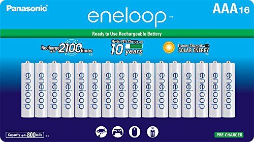 Panasonic BK-4MCCA16FA eneloop AAA 2100 Cycle Ni-MH Pre-Charged Rechargeable Batteries 16 Pack